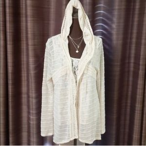 Lacy Hooded Cardigan!